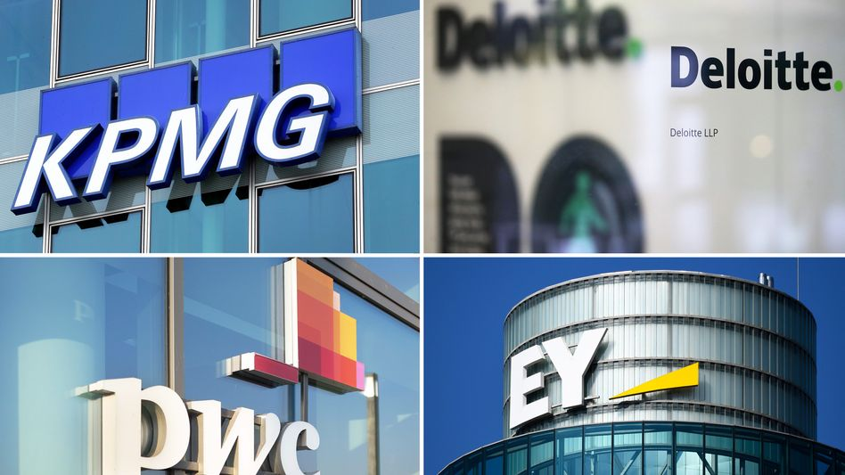"""""""Immer dabei"""": Logos der Big Four"""