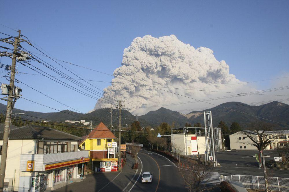 Japan/ Vulkan-Ausbruch