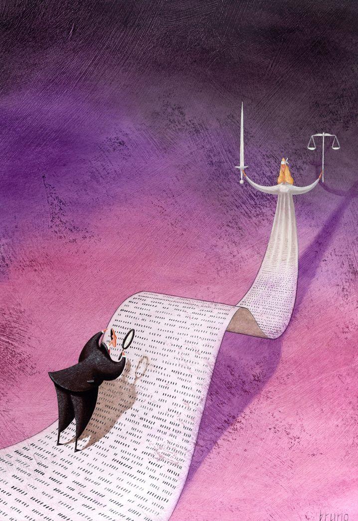Justizia: Gesetze sind nicht immer leicht zu verstehen