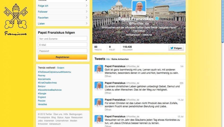 """Päpstlicher Twitter-Account: """"Nicht wie einen Kaffee am Automaten"""""""