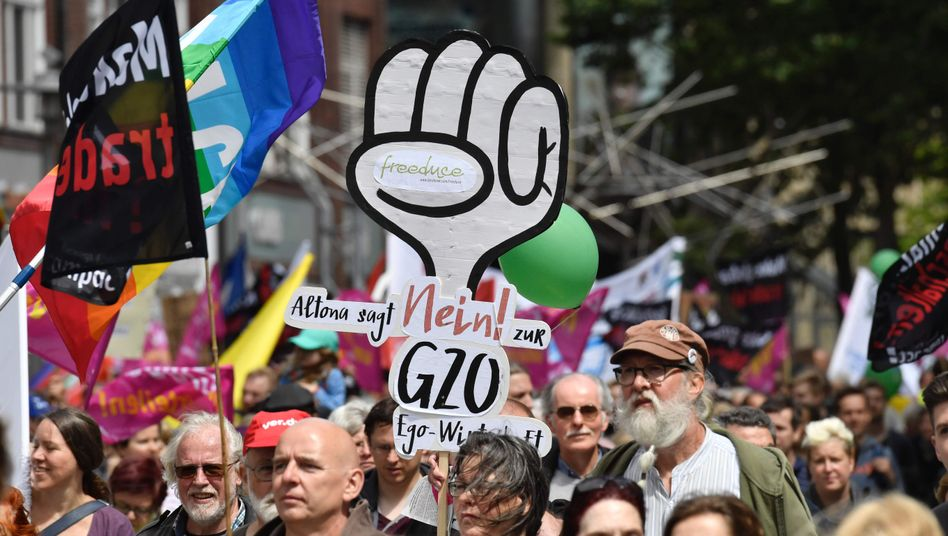 Demonstration gegen G20 in Hamburg