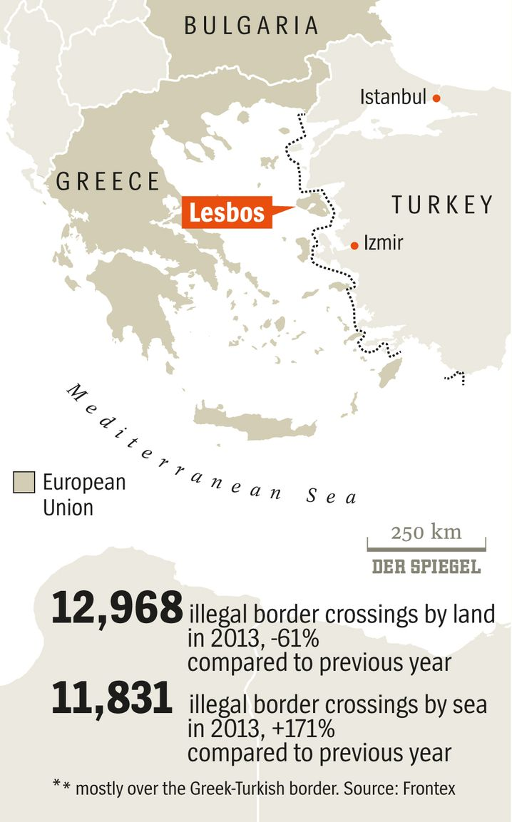 Graphic: Crossing the Aegean Sea