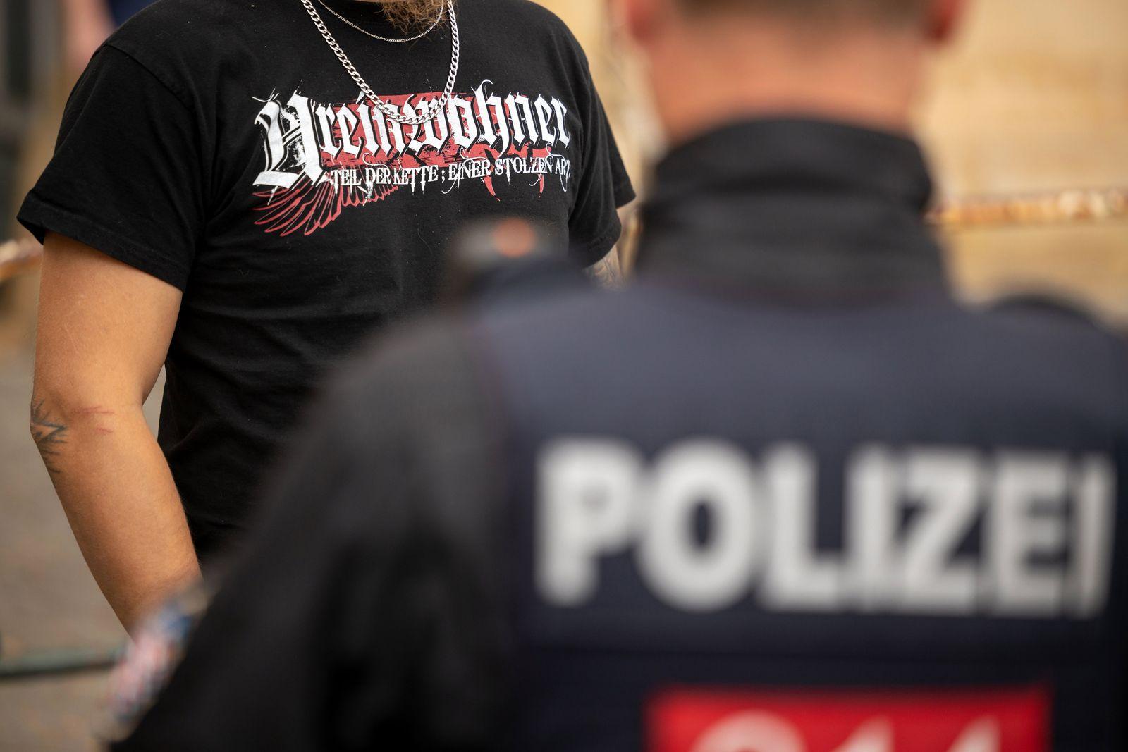 Kundgebung des Bündnis gegen Rechtsextremismus in Eisenach