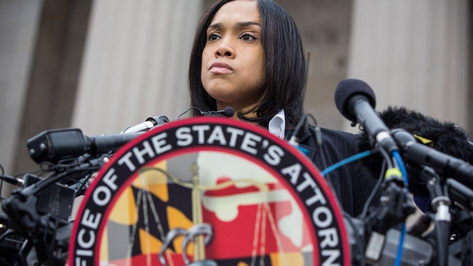 Klagt im Fall Freddie Gray an: Staatsanwältin Marilyn Mosby
