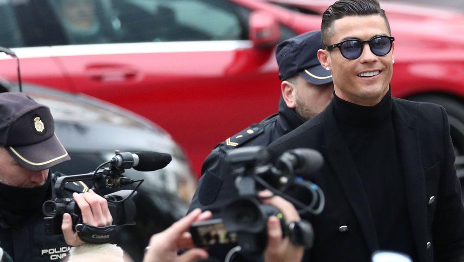 Cristiano Ronaldo vor Gericht in Madrid