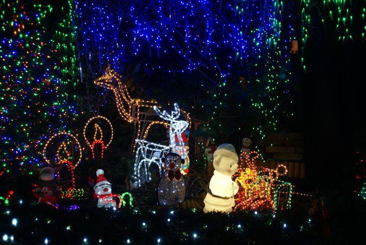 Rund 25.000 Lämpchen im Vorgarten: Bei Hausnummer 8 wird es abends hell