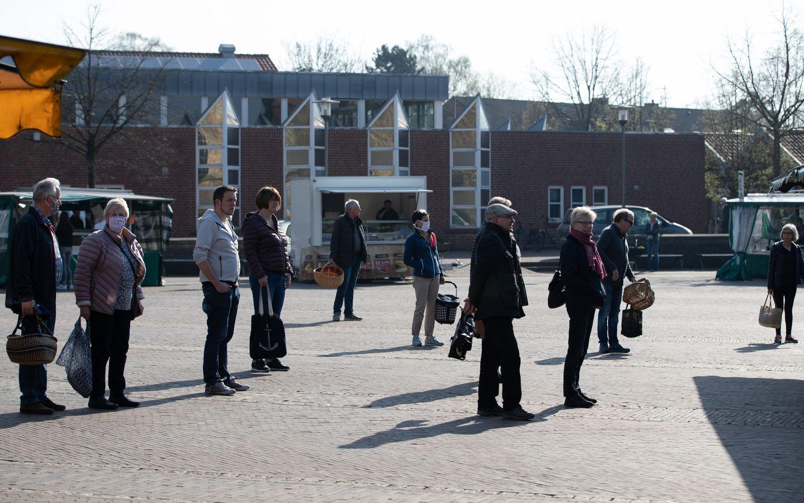 Coronavirus - Wochenmarkt Nordhorn