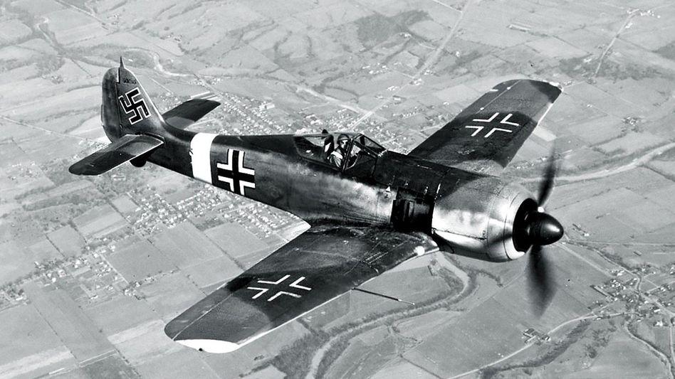Jagdflugzeug des Typs Focke-Wulf Fw 190 um 1943