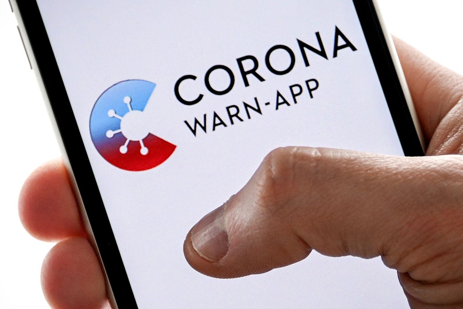 German corona warning app, Cologne, Germany - 10 Jun 2020