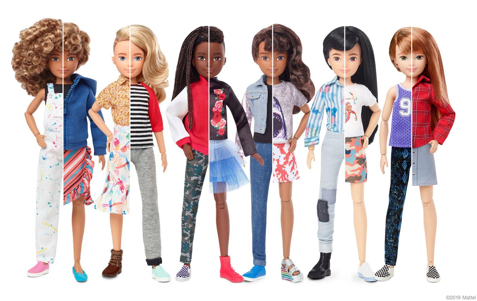 EINMALIGE VERWENDUNG Mattel bringt eine genderneutrale Barbie raus