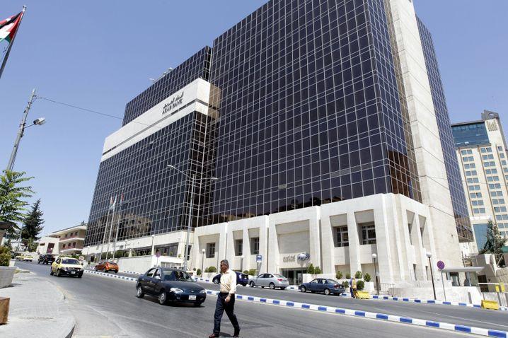 Hauptsitz der Arab Bank im jordanischen Amman: Angeblich 180 Überweisungen an Attentäter, deren Familien oder Hamas-Aktivisten