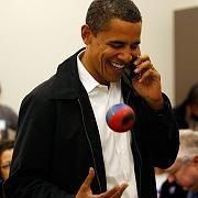 Präsident Obama (während des Wahlkampfs): Treuer Familienmann, stolzer Vater