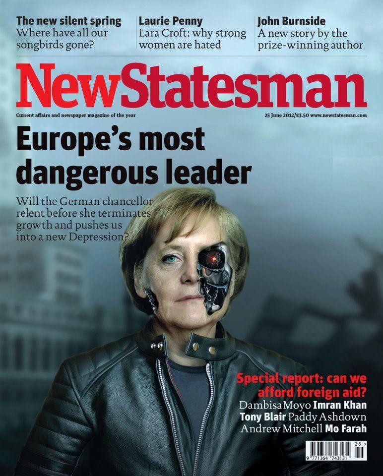 EINMALIGE VERWENDUNG NUR ALS ZITAT Cover New Statesman / Merkel