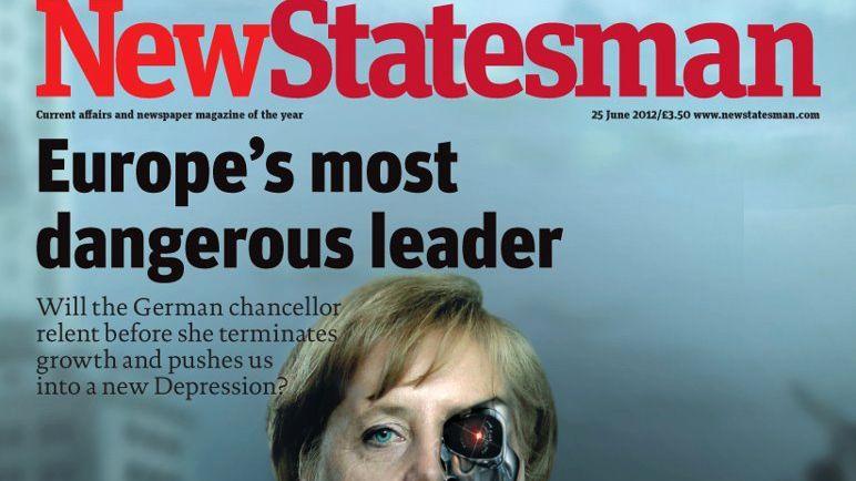 """Englisches Magazin-Cover: """"Europas gefährlichste Anführerin"""""""