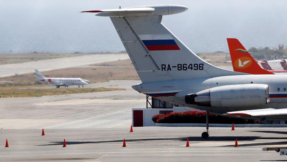 Russisches Flugzeug in Caracas