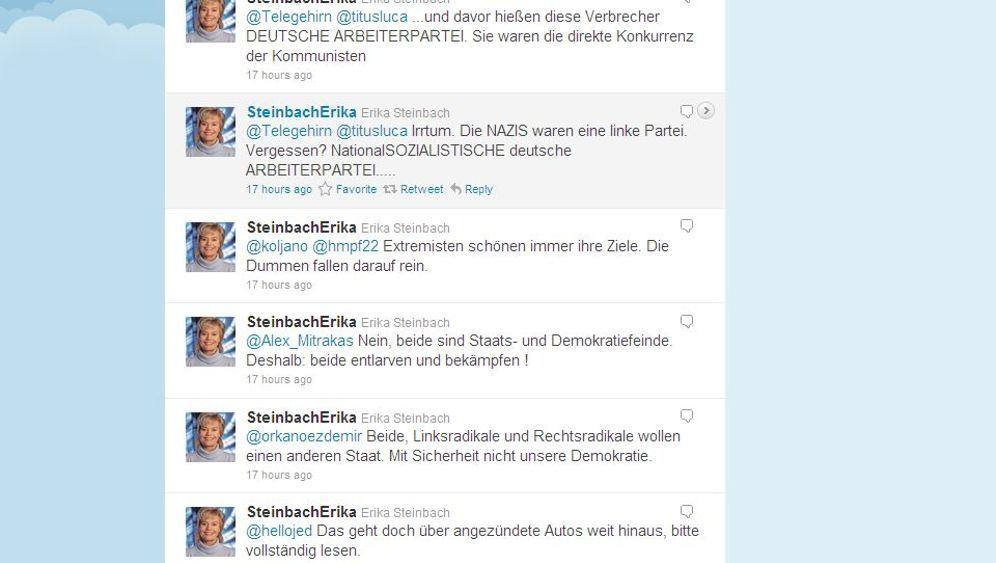Steinbach auf Twitter: In 140 Zeichen zum Eklat