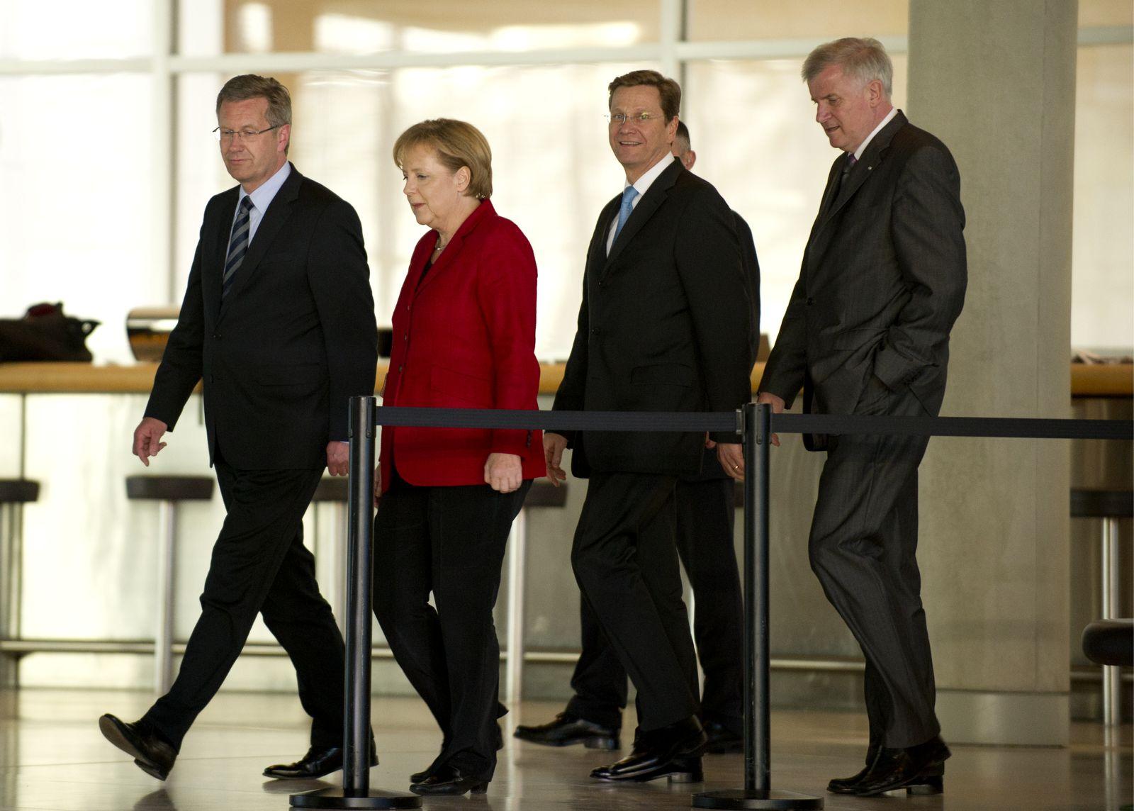 NICHT VERWENDEN Merkel / Seehofer / Westerwelle