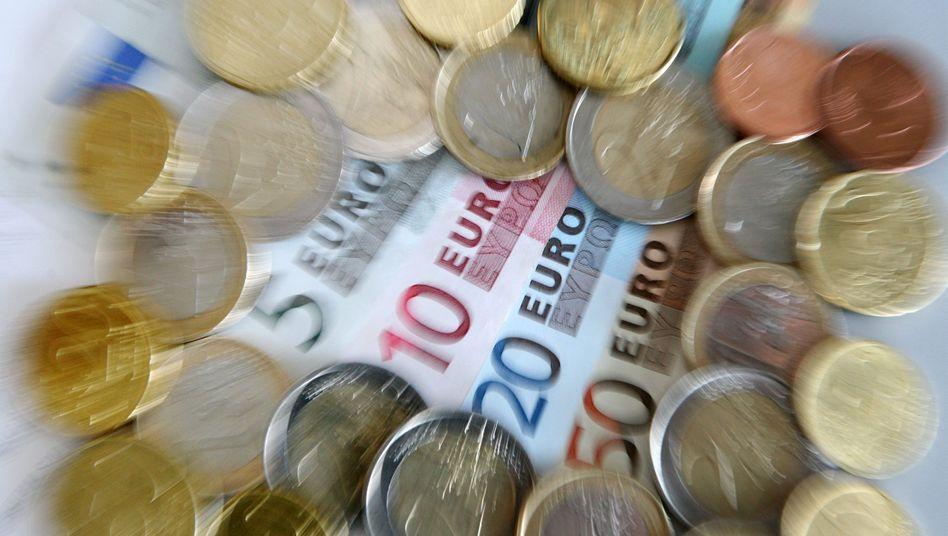 Euro-Scheine und -Münzen: Hohe Summen für die höchste Bonität