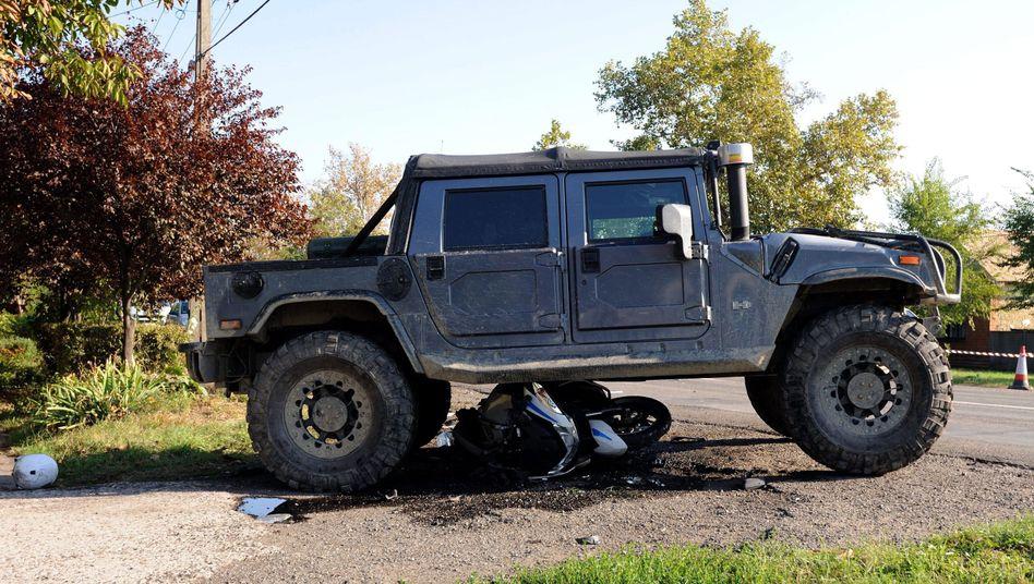 Hummer über Motorrad: Geländewagen-Fahrer droht lebenslange Haft