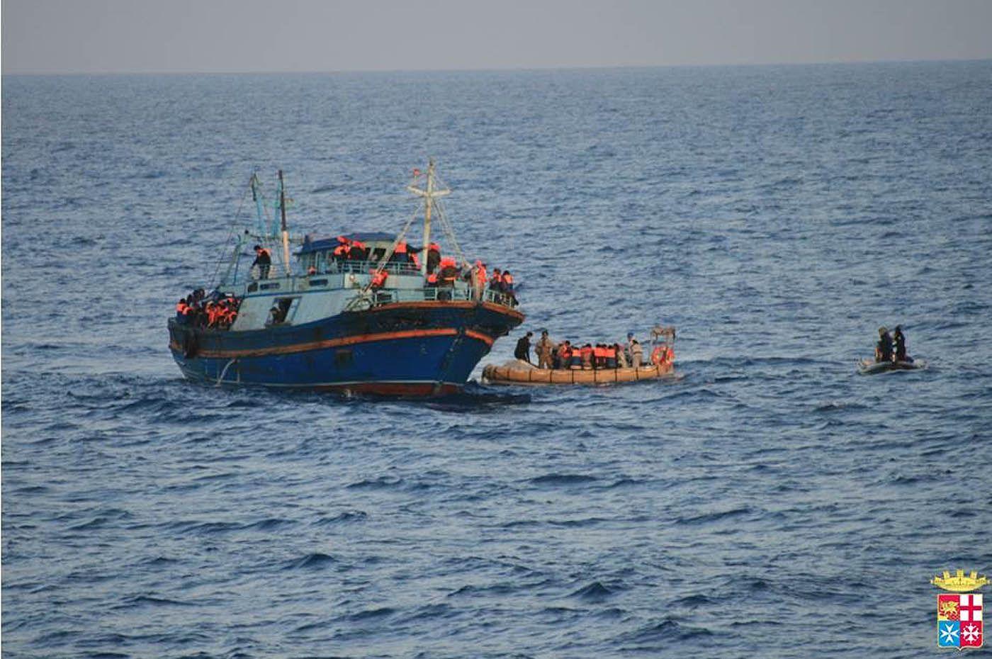 EINMALIGE VERWENDUNG Italien/ Lampedusa/ Flüchtlinge