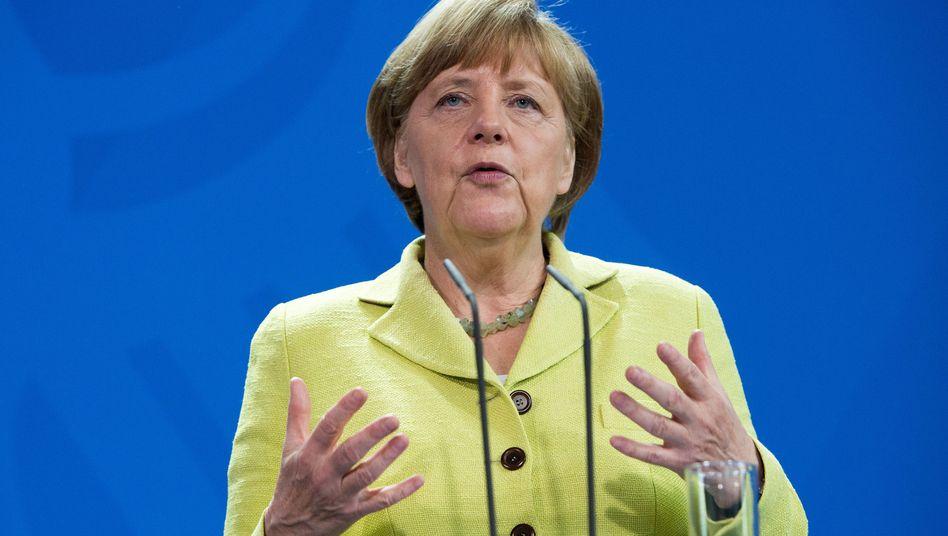 Merkel: Steht vor den Scherben ihrer Griechenland-Politik.