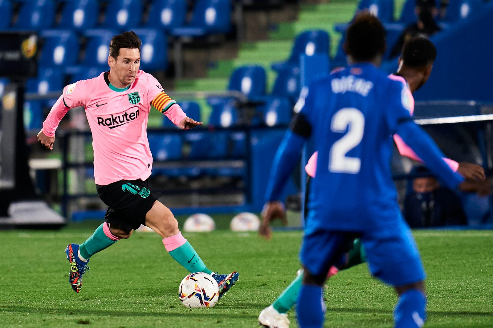 October 17, 2020, Getafe, Madrid, Spain: Lionel Messi of FC Barcelona, Barca during La Liga Santander match between Geta