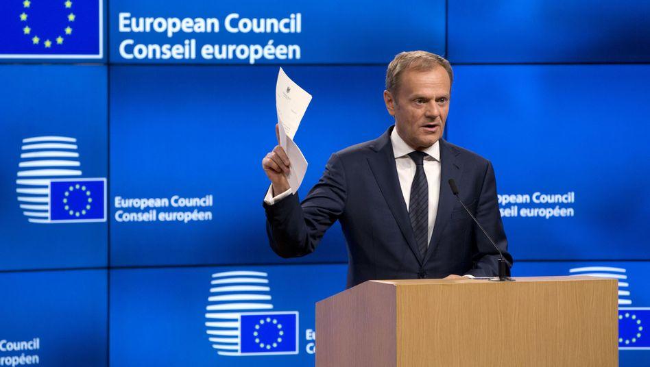 EU-Ratspräsident Donald Tusk und der britische Antrag auf EU-Austritt