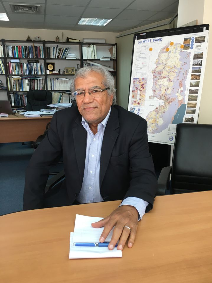 Khalil Shikaki in Ramallah