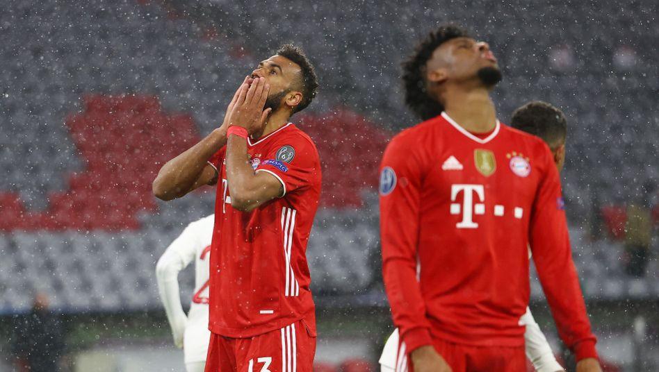 Bayerns Eric Maxim Choupo-Moting und Kingsley Coman