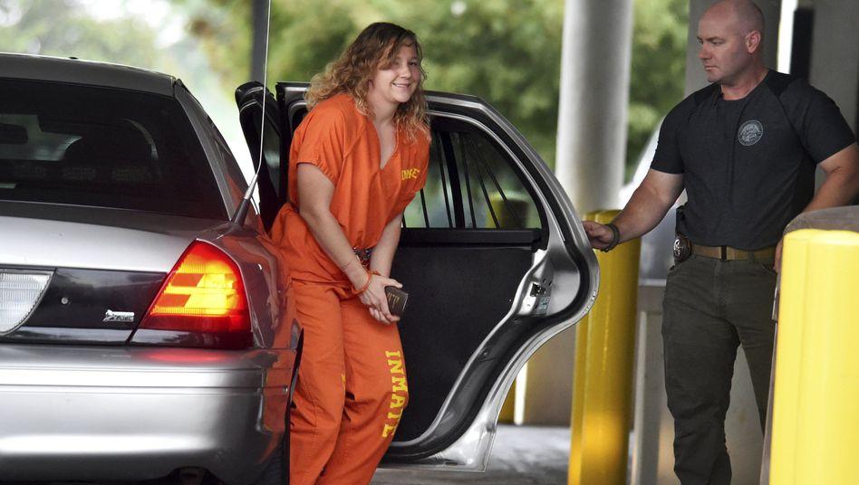 Winner bei ihrer Ankunft am Gerichtsgebäude