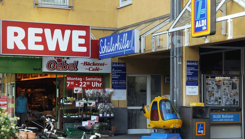 Rewe und Aldi in Düsseldorf: Konzentration zulasten kleinerer Händler