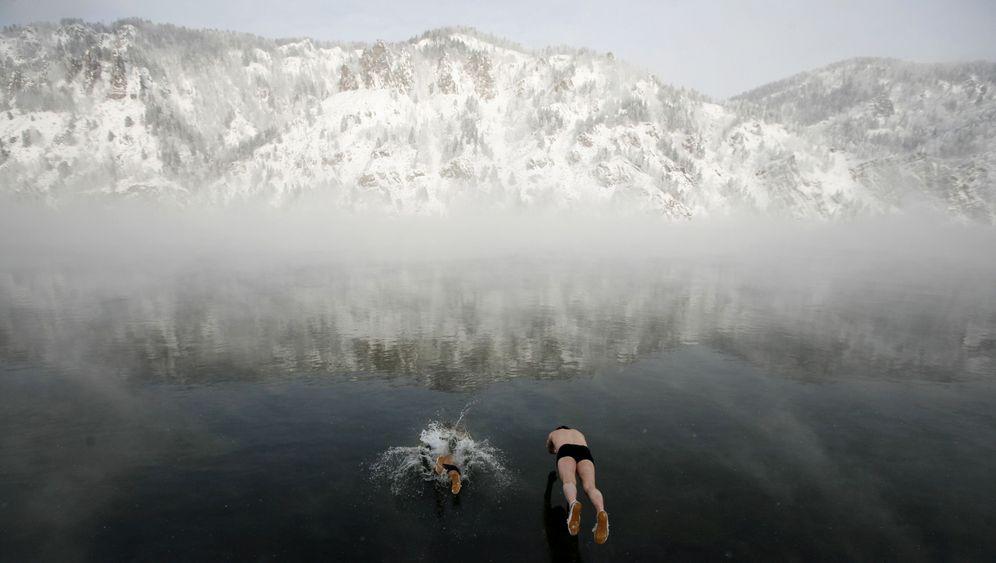 Winterschwimmer: Kein Angst vor Eisschollen