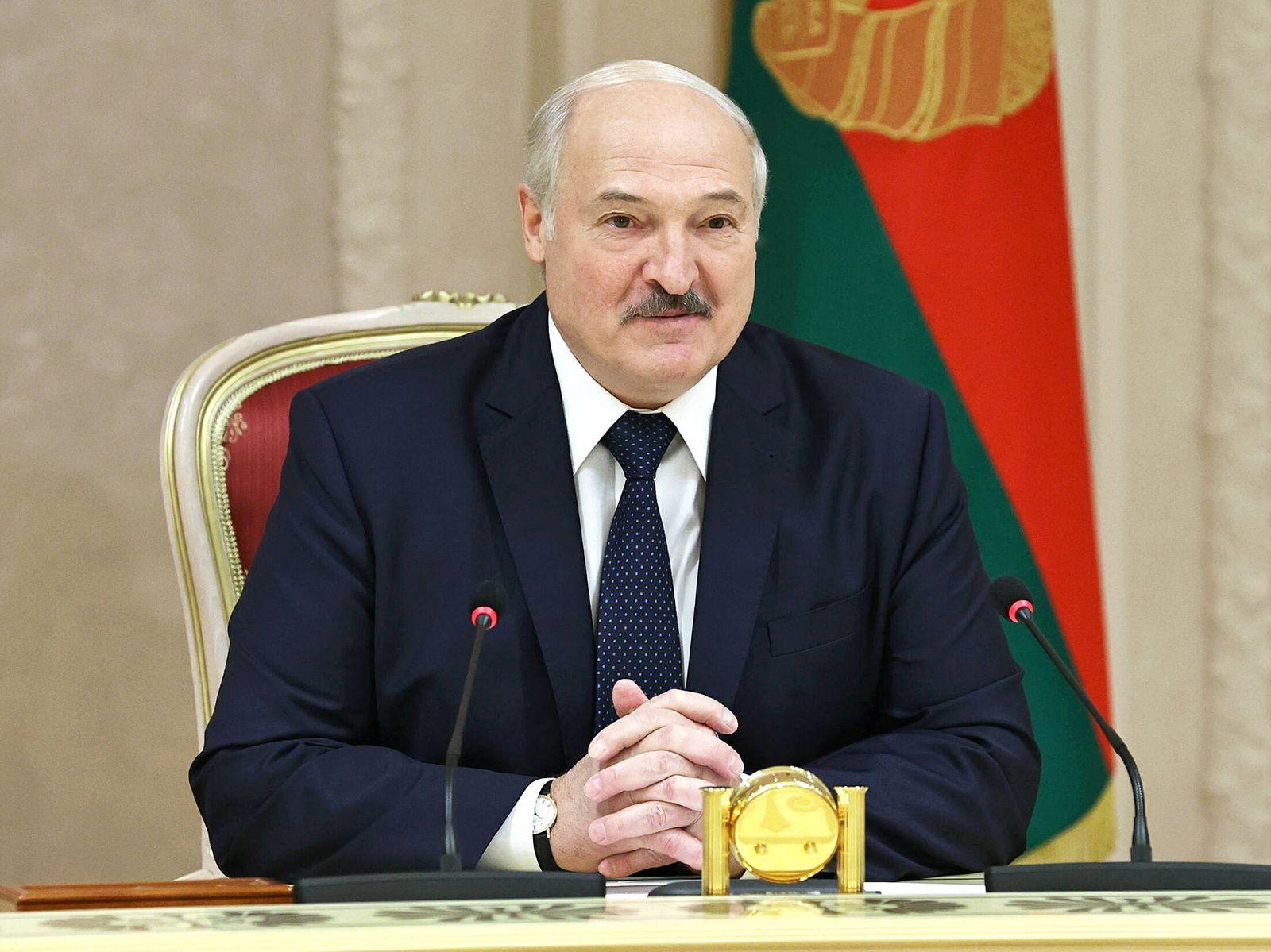 MINSK, BELARUS - SEPTEMBER 28, 2020: Belarus President Alexander Lukashenko during a meeting with Russia s Pskov Region
