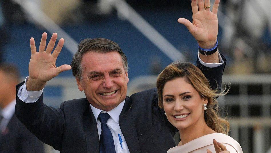 Jair Bolsonaro und seine Ehefrau Michelle