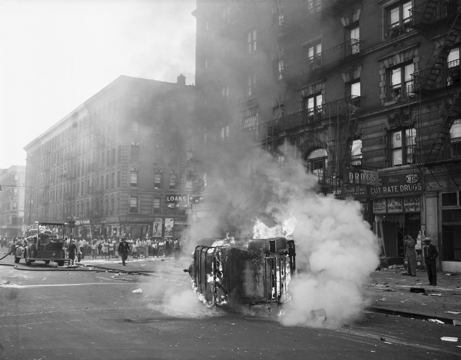 Burning Car In Harlem