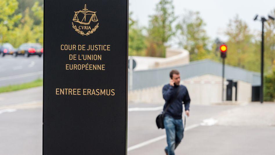 Vorplatz der Europäischen Gerichsthofs