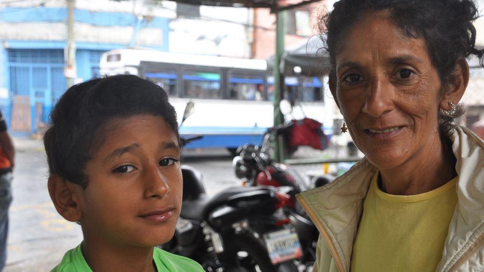 Blanca Bautista und Sohn Gabriel