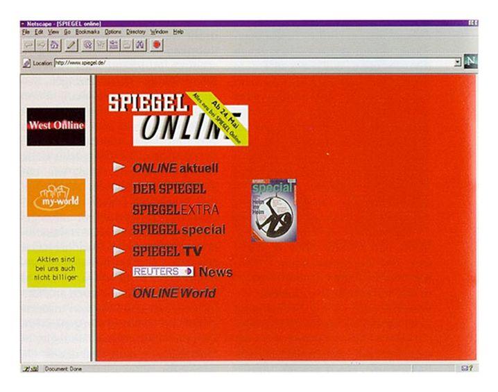 """SPIEGEL ONLINE nach dem Relaunch 1996: """"Schneller wissen, was los ist"""""""