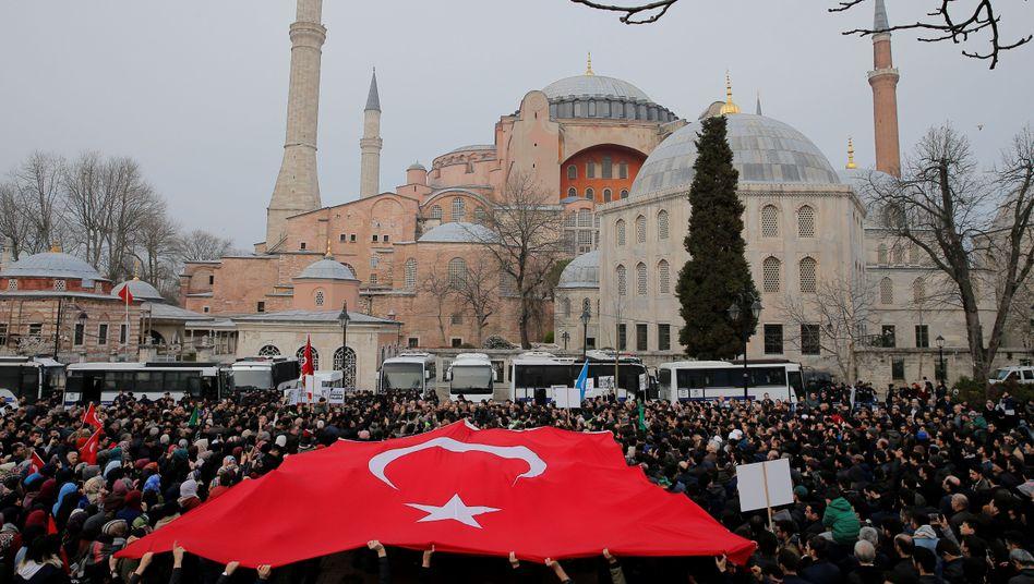 Hagia Sophia in Istanbul: Erdogans Wahlkampftrumpf?
