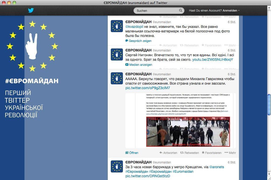 NUR ALS ZITAT Screenshot Euromaiden
