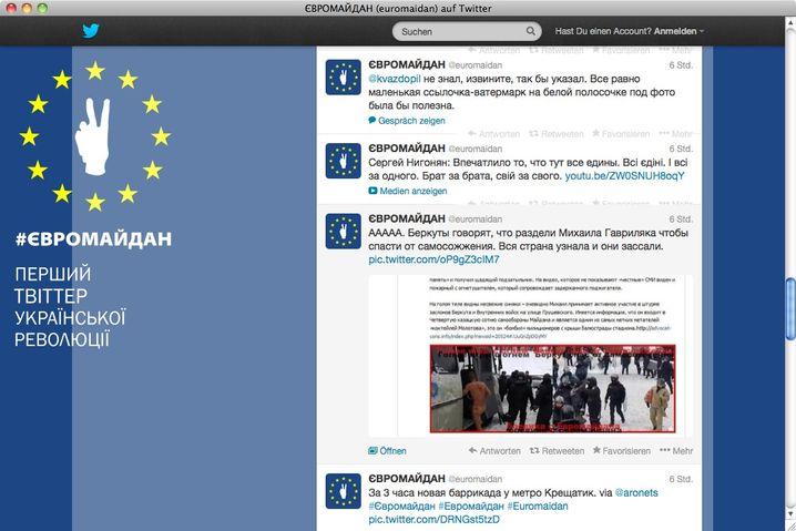 Twitter-Account der Euromaidan-Anhänger