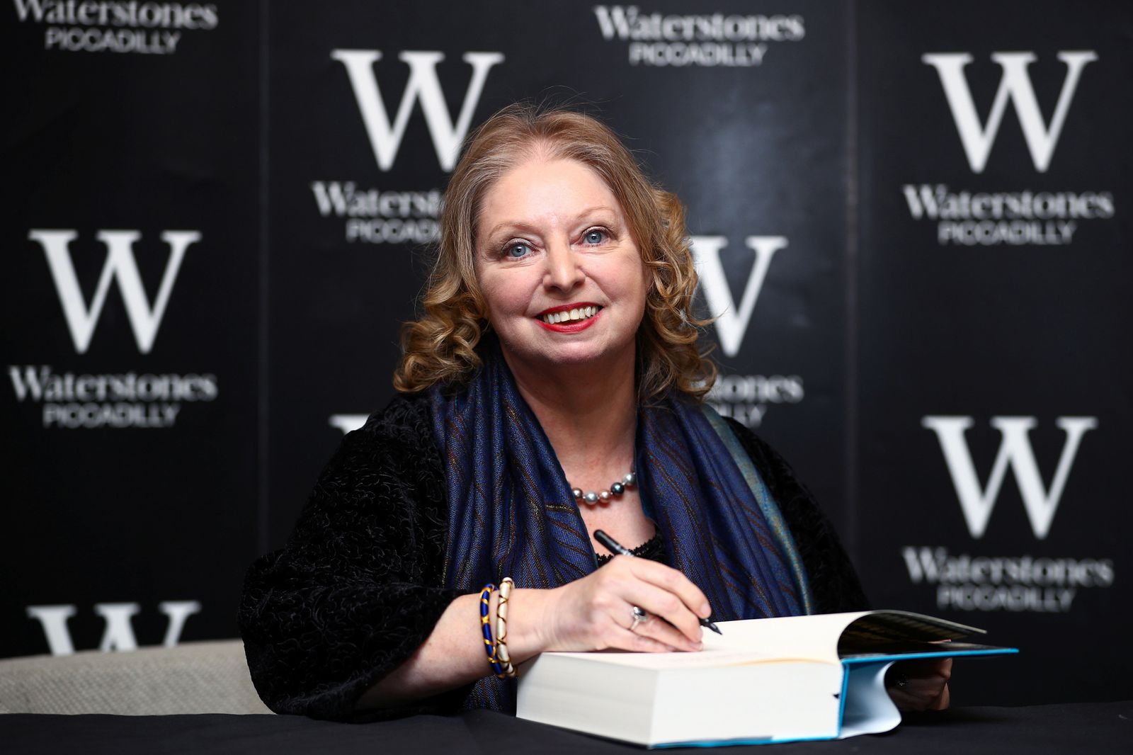 "Author Hilary Mantel attends a book signing for her new novel ""The Mirror and the Light"" at a book store in London"