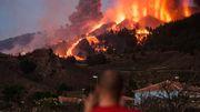 Lavawalze zerstört Häuser auf La Palma