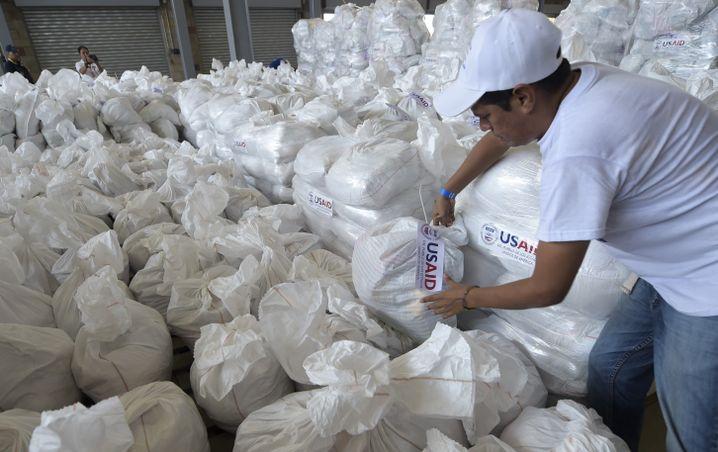 US-amerikanische Hilfsgüter in Kolumbien