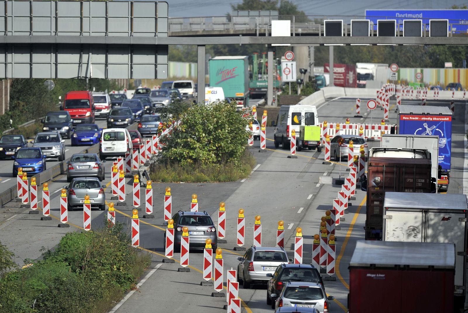 Autobahn-Baustellen in NRW Okt 2011