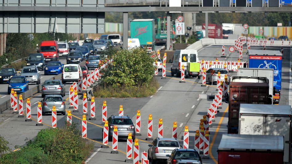 Baustelle auf der Autobahn: Erhöhtes Risiko für Staus und Unfälle