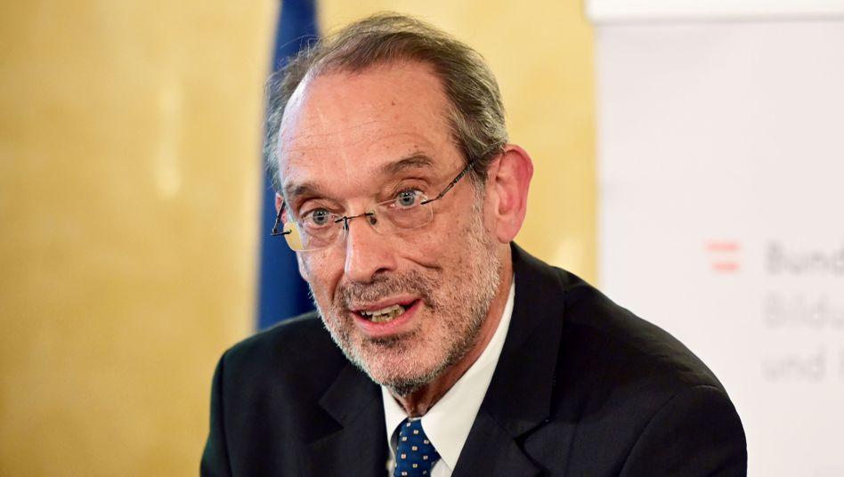 """Bildungsminister Heinz Faßmann: """"Schüler und Schülerinnen zu verängstigen ist kein pädagogisches Konzept"""""""
