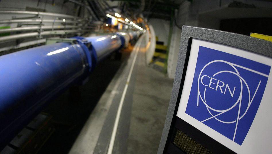 Der Teilchenbeschleuniger Large Hadron Collider (LHC) im Europäischen Kernforschungszentrum Cern bei Genf