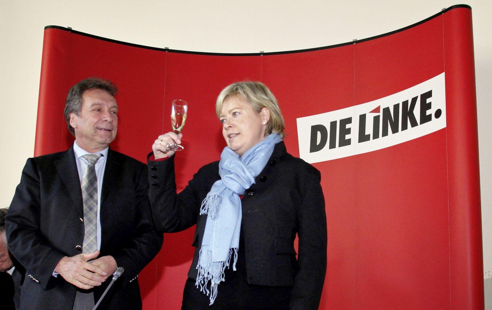 Klaus Ernst und Gesine Lötzsch