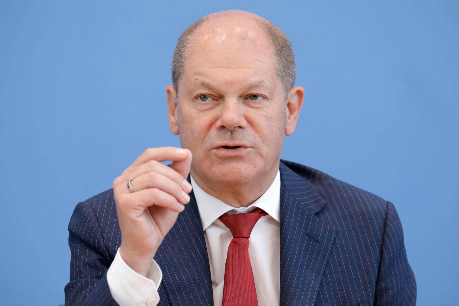 Olaf Scholz, Bundesminister der Finanzen, SPD, PK zu Nachtragshaushalt, DEU, Berlin, 17.06.2020 *** Olaf Scholz, Federal